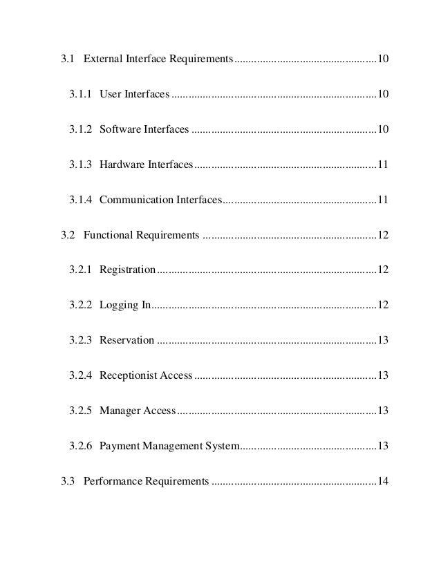 Hotel Management System SRS  Slide 3