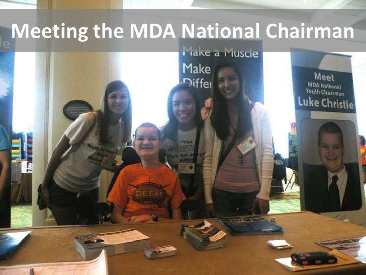 Meeting the MDA National Chairman