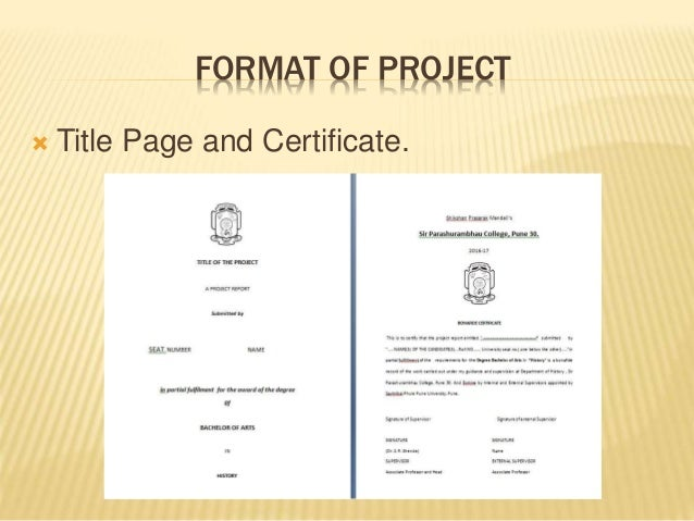 Project workshop 13217 format of project title page and certificate yadclub Gallery