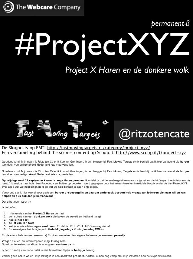 permanent-ß           #ProjectXYZ                                                   Project X Haren en de donkere wolk    ...