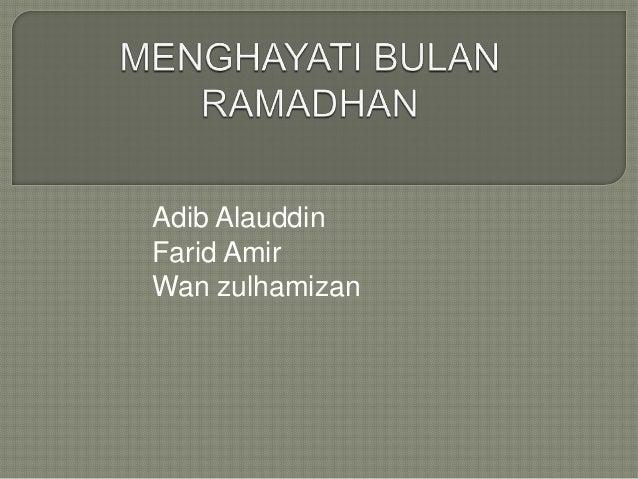 Adib Alauddin Farid Amir Wan zulhamizan