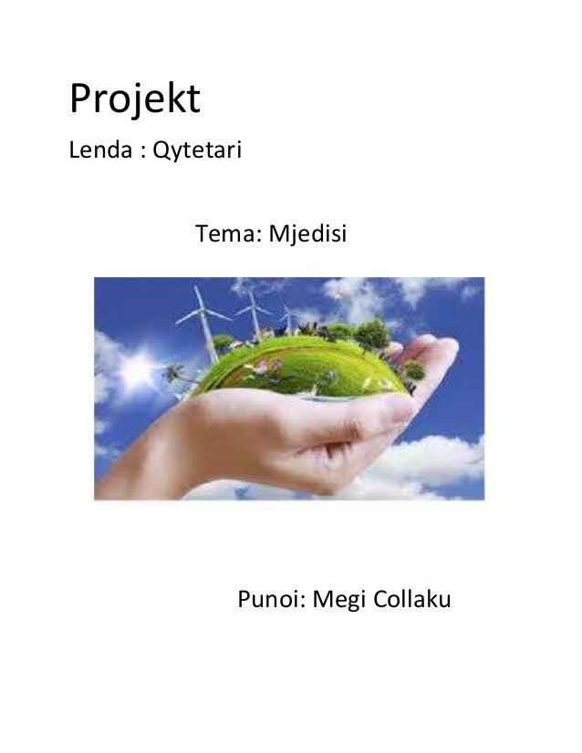 Projekt Lenda : Qytetari Tema: Mjedisi Punoi: Megi Collaku