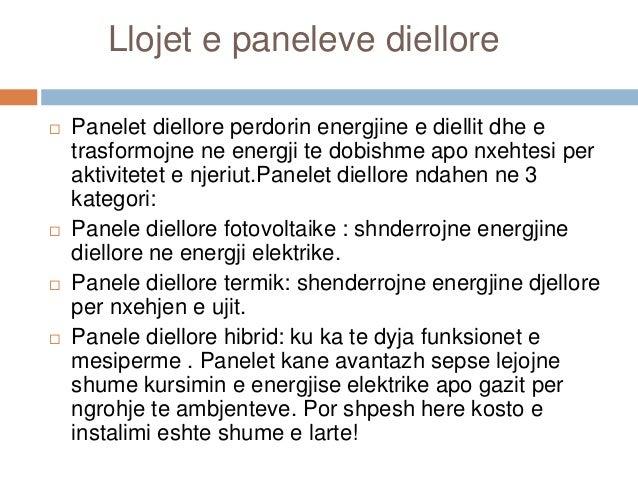 Panelet diellore Slide 3