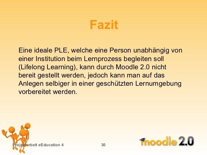 Projekt Praesentation Moodle 20