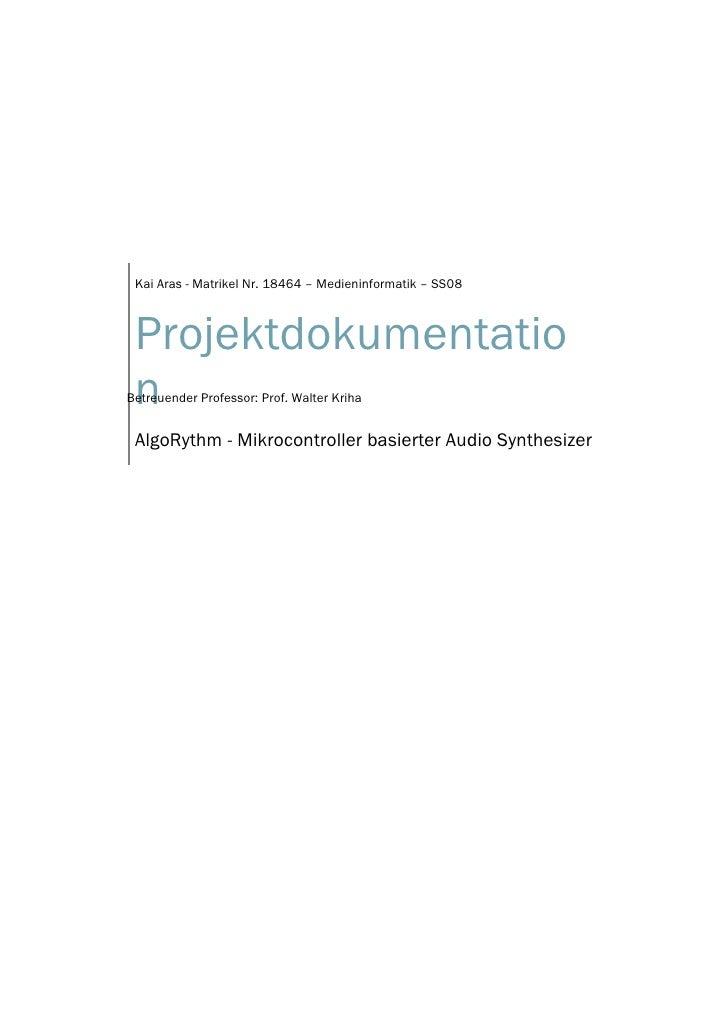 Projektdokumentation Kai Aras Ss08