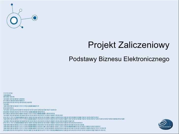 Projekt Zaliczeniowy Podstawy Biznesu Elektronicznego
