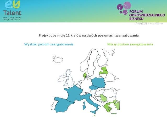 Text box - title SubheadingText box - titleCzym jest EU Talent? Projekt obejmuje 12 krajów na dwóch poziomach zaangażowani...