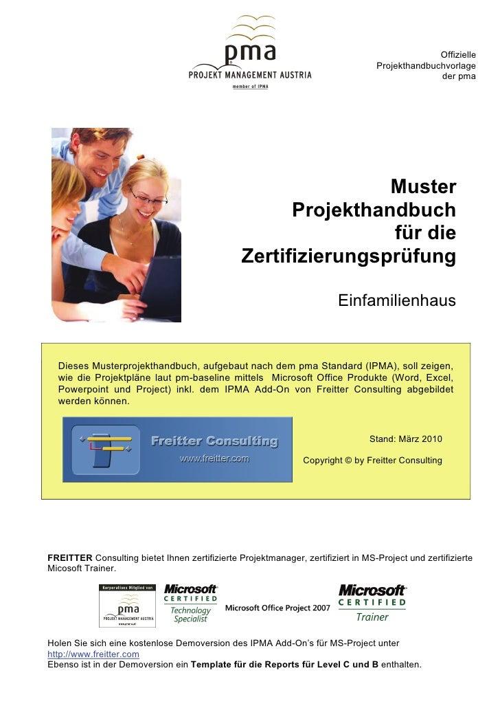 Muster-Projekthandbuch Einfamilienhaus