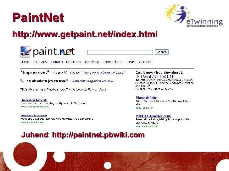 PaintNet  http://www.getpaint.net/index.html   Juhend :  http://paintnet.pbwiki.com