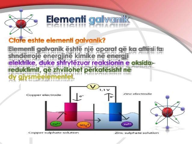 Nga se përbëhet elementi galvanik ?