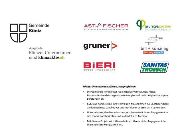 Könizer Unternehmen können jetzt profitieren: • Die Gemeinde Köniz bietet regelmässige Vernetzungsanlässe, Kommunikationsl...