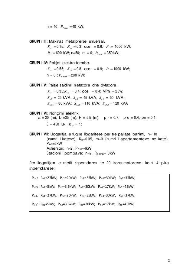 2 nn = 40; P max 40 kW; GRUPI i III: Makinat metalprerse universal. nKça 0.15; Kkr  0.3; cos = 0.6; P  1000 kW; n nP ...