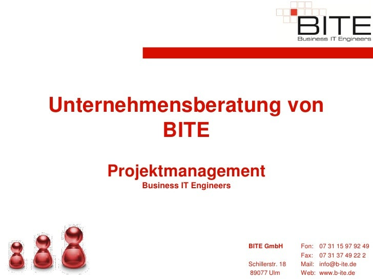 Unternehmensberatung von          BITE      Projektmanagement         Business IT Engineers                               ...