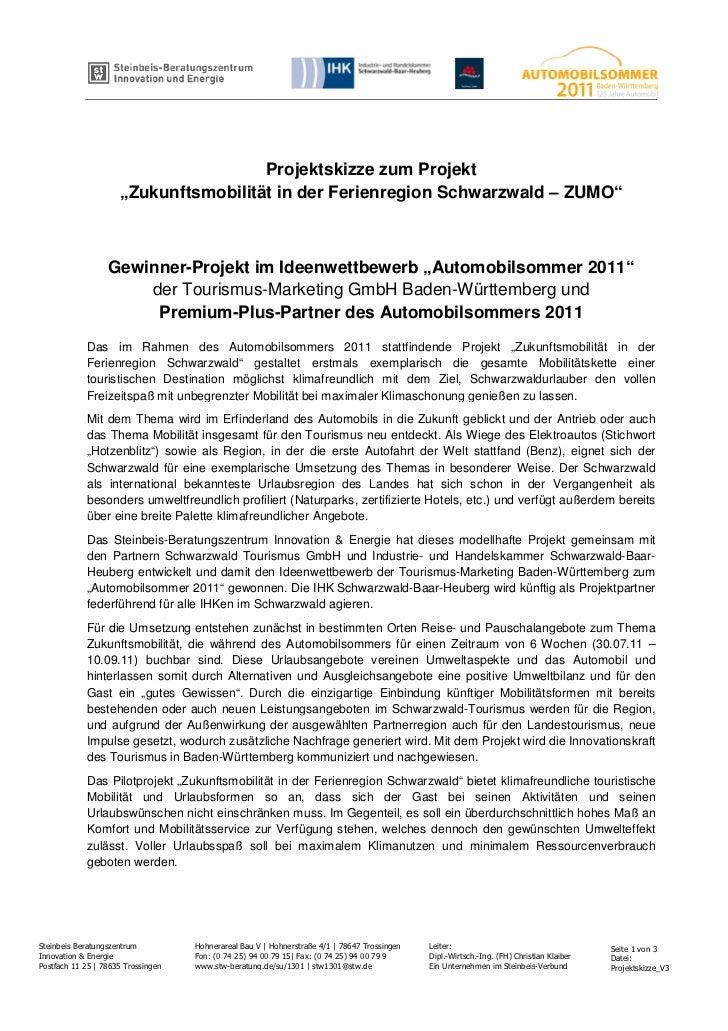 """bv                                      Projektskizze zum Projekt                     """"Zukunftsmobilität in der Ferienregi..."""