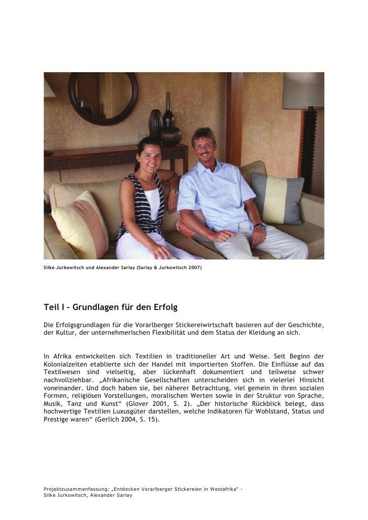 Silke Jurkowitsch und Alexander Sarlay (Sarlay & Jurkowitsch 2007)     Teil I - Grundlagen für den Erfolg Die Erfolgsgrund...