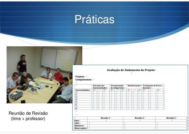 Práticas Reunião de Revisão (time + professor)