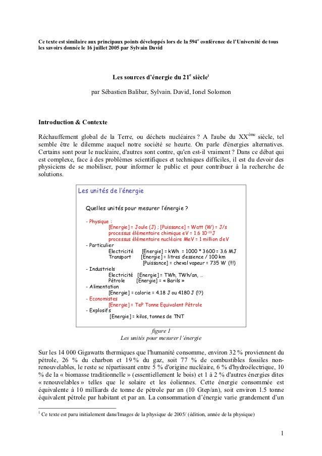 Ce texte est similaire aux principaux points développés lors de la 594e conférence de l'Université de tousles savoirs donn...