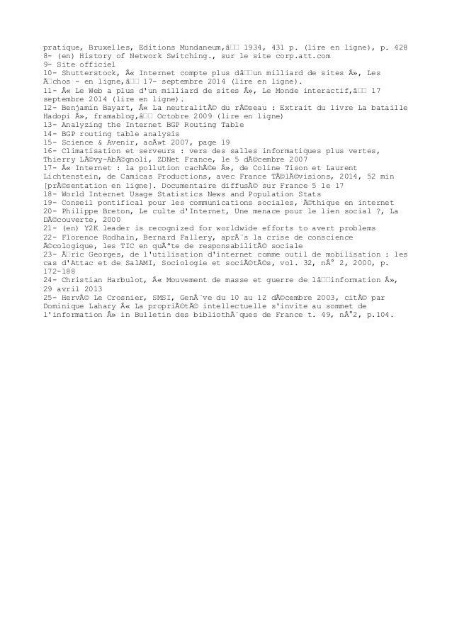 pratique, Bruxelles, Editions Mundaneum,≉ 1934, 431 p. (lire en ligne), p. 428 8- (en) History of Network Switching., su...