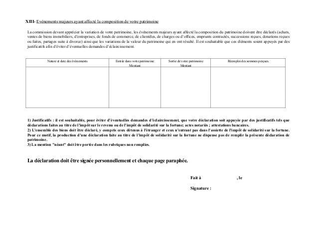XIII- Evénements majeurs ayant affecté la composition de votre patrimoineLa commission devant apprécier la variation de vo...
