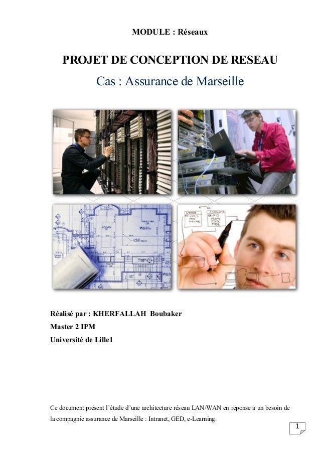 MODULE : Réseaux    PROJET DE CONCEPTION DE RESEAU                 Cas : Assurance de MarseilleRéalisé par : KHERFALLAH Bo...