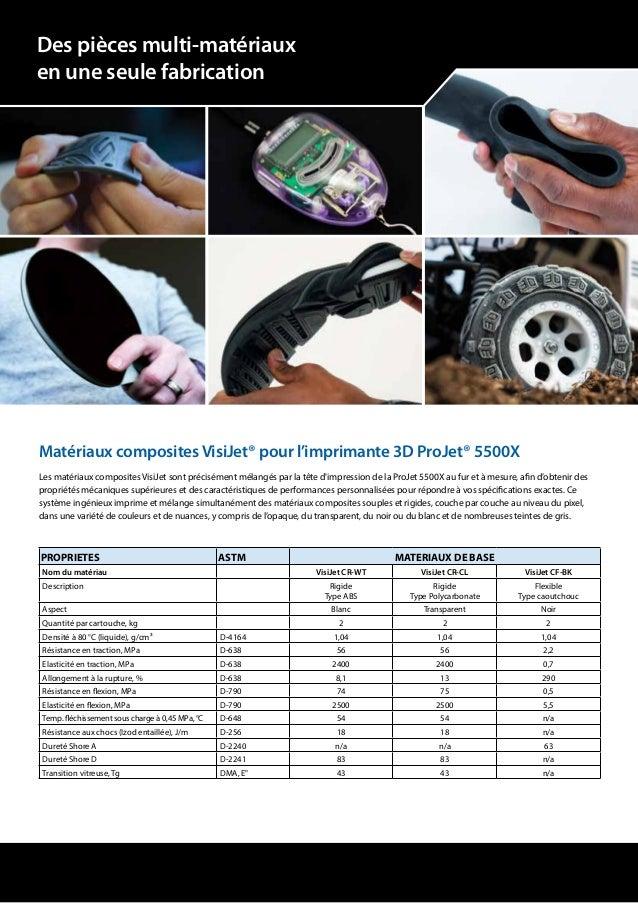 Matériaux composites VisiJet® pour l'imprimante 3D ProJet® 5500X Les matériaux composites VisiJet sont précisément mélangé...
