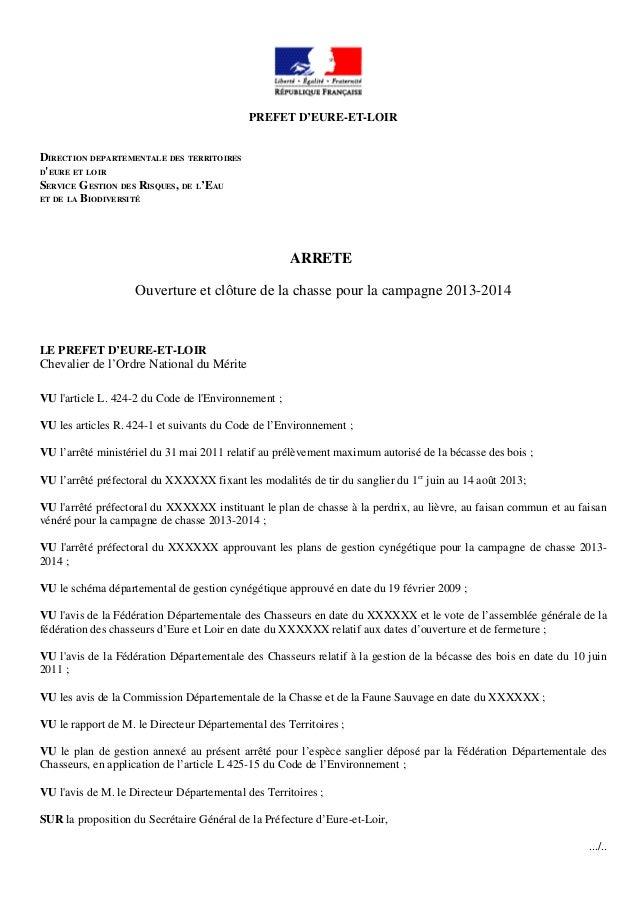 PREFET D'EURE-ET-LOIRDIRECTION DEPARTEMENTALE DES TERRITOIRESDEURE ET LOIRSERVICE GESTION DES RISQUES, DE L'EAUET DE LA BI...