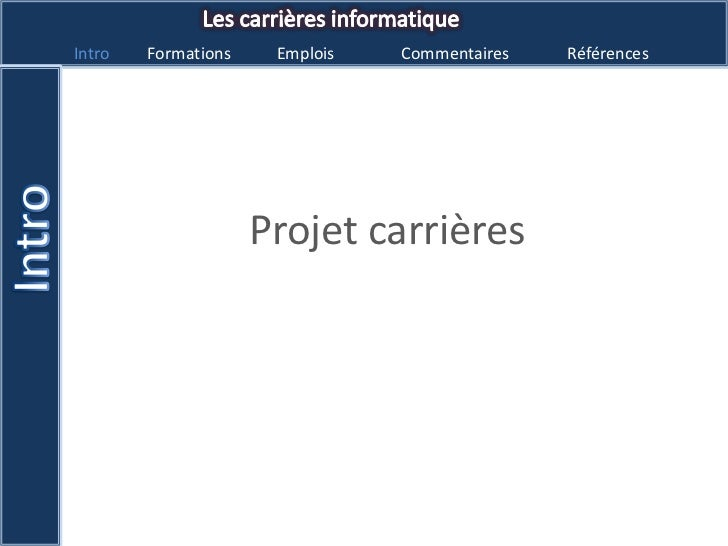 Projet carrières<br />