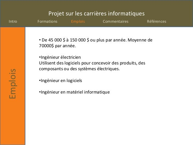 Projetcarrieres  Slide 3