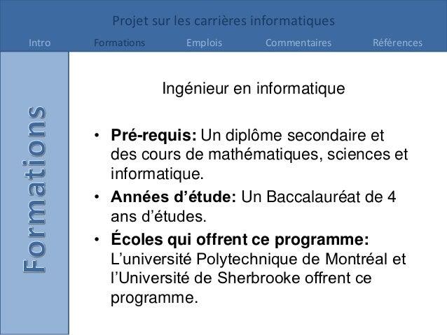Projet Carrières -GabrielleMelanson Slide 2