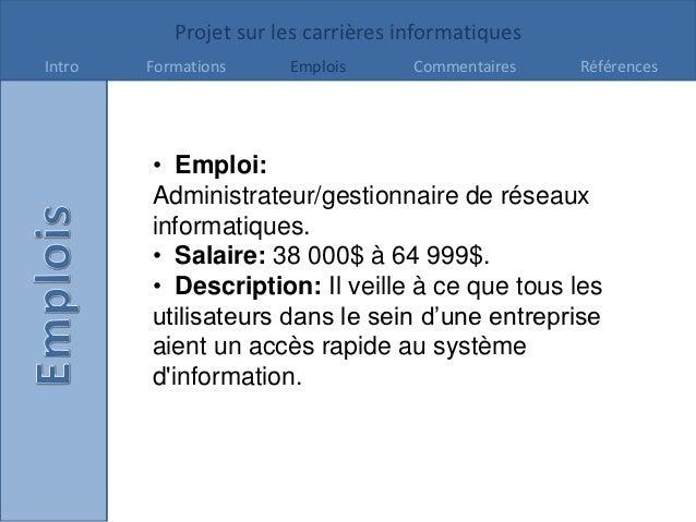 Projet Carrières -GabrielleMelanson Slide 3