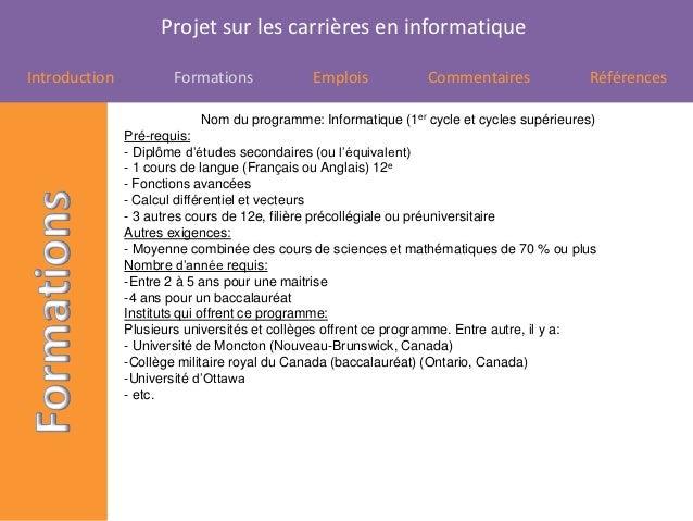 Projet carrières Slide 2