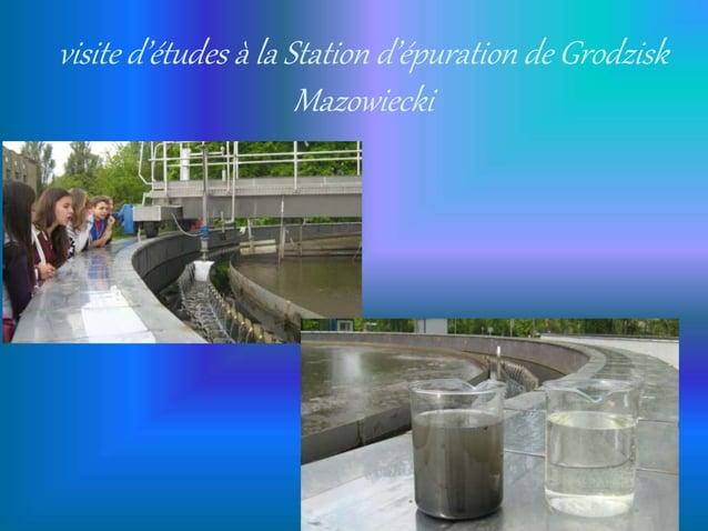 visite d'études à la Station d'épuration de Grodzisk Mazowiecki
