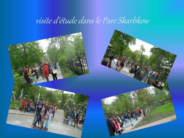 visite d'étude dans le Parc Skarbkow