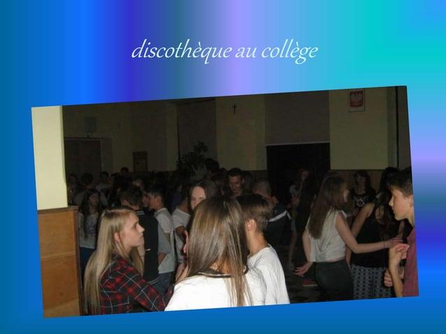discothèque au collège