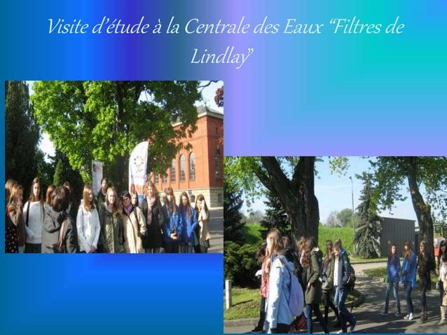 """Visite d'étude à la Centrale des Eaux """"Filtres de Lindlay"""""""