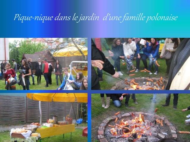 Pique-nique dans le jardin d'une famille polonaise