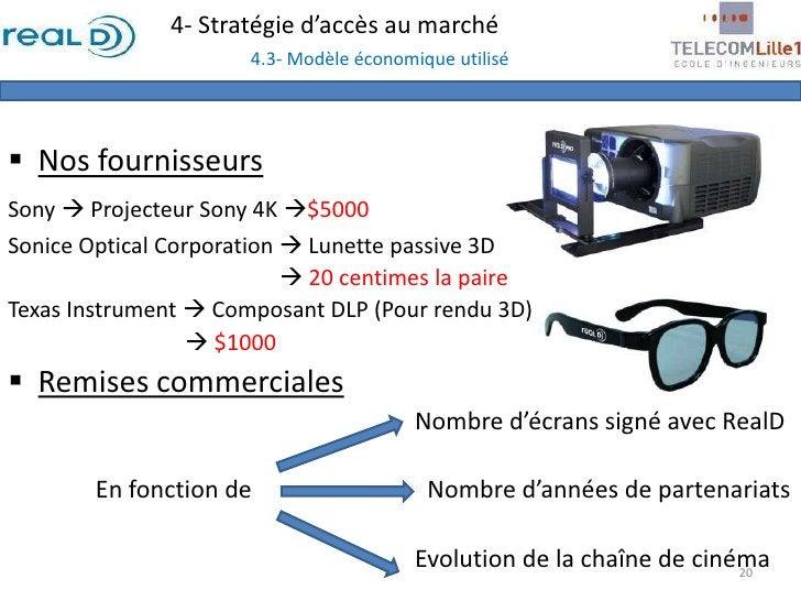 4- Stratégie d'accès au marché4.3- Modèle économique utilisé<br /><ul><li>Nos fournisseurs</li></ul>Sony  Projecteur Sony...
