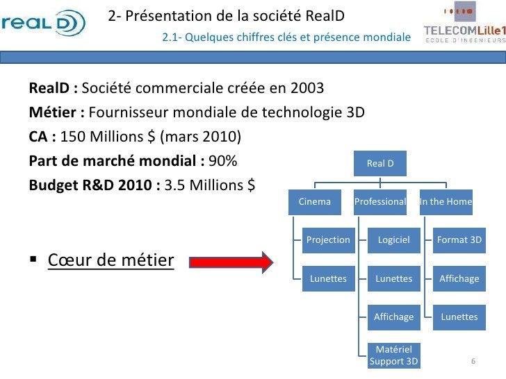 2- Présentation de la société RealD2.1- Quelques chiffres clés et présence mondiale<br />RealD : Société commerciale créée...