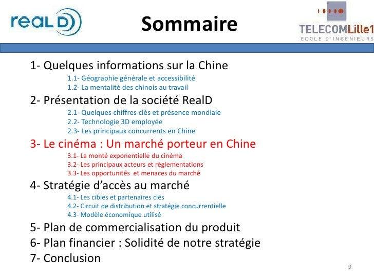 Sommaire<br />1- Quelques informations sur la Chine<br />1.1- Géographie générale et accessibilité<br />1.2- La mentalité...