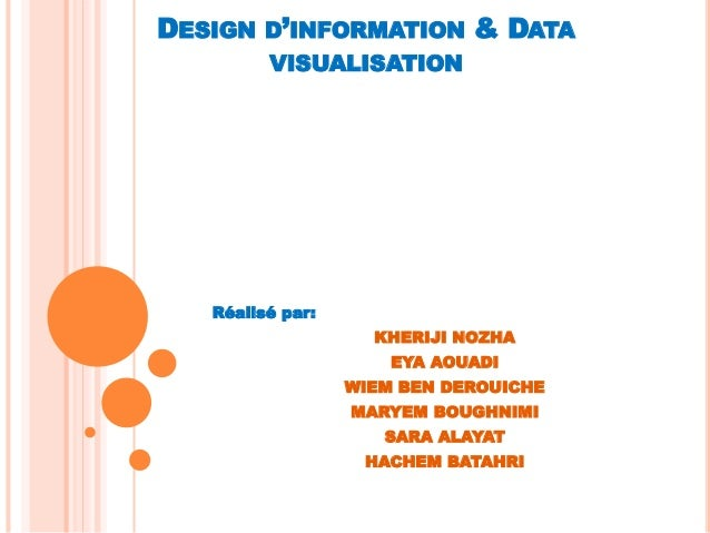 DESIGN D'INFORMATION & DATA VISUALISATION Réalisé par: KHERIJI NOZHA EYA AOUADI WIEM BEN DEROUICHE MARYEM BOUGHNIMI SARA A...
