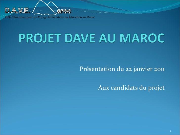 Défi d'Aventure pour un Voyage humanitaire en Éducation au Maroc                                                     Prése...