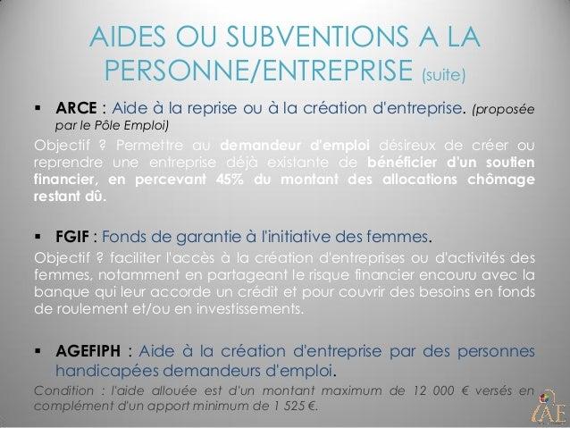 Creation D Entreprise Aides Financements