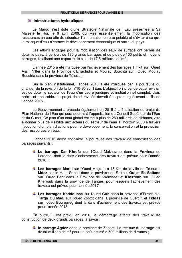 Projet de loi de finances pour l ann e budg taire 2016 au for Loi sur les constructions