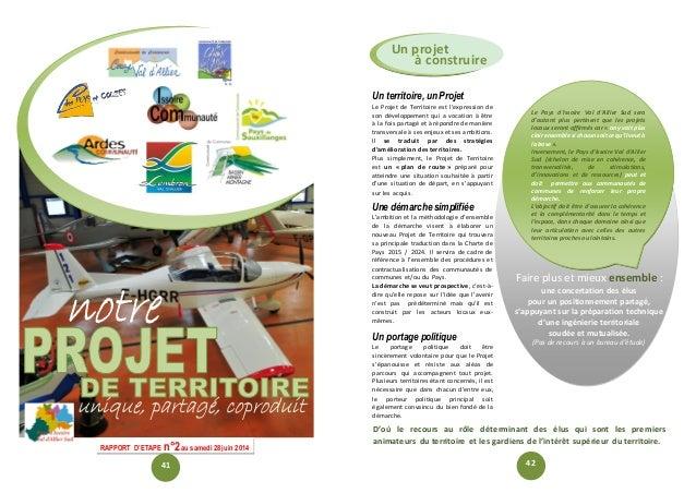 Le Pays d'Issoire Val d'Allier Sud sera d'autant plus pertinent que les projets locaux seront affirmés car « on y voit plu...