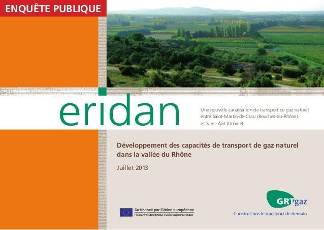 enquête Publique  Une nouvelle canalisation de transport de gaz naturel entre Saint-Martin-de-Crau (Bouches-du-Rhône) et S...