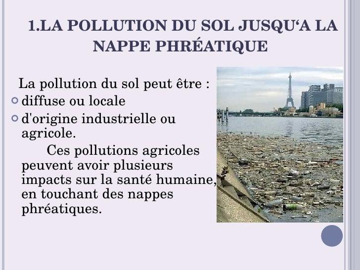 pollution du sol et de la nappe phr 233 atique