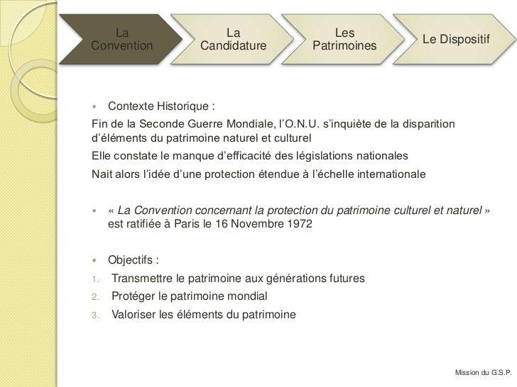 Projet GSP - Candidature De La Martinique Au Patrimoine Mondial Slide 3