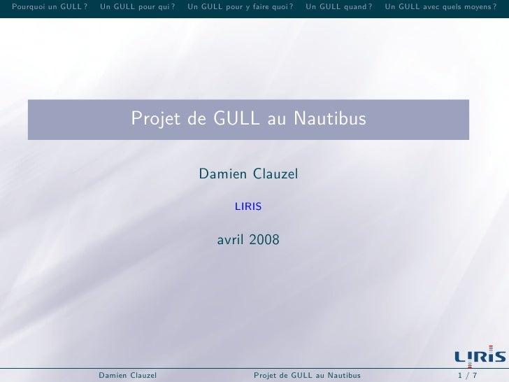 Projet de GULL au Nautibus
