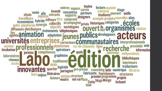 Constat Labo de l'édition  Manque d'interactions entre les acteurs de l'espace de coworking.  Besoin et envie de travail c...