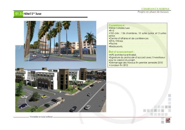 CASABLANCA MARINA                                                Projets en phase de travaux     Hôtel 5* luxe01.3.2      ...